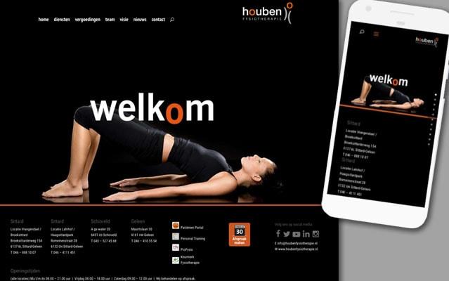 Houben Fysiotherapie homepage