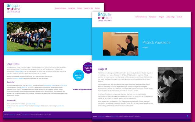 Lingua e Musica homepage en dirigent