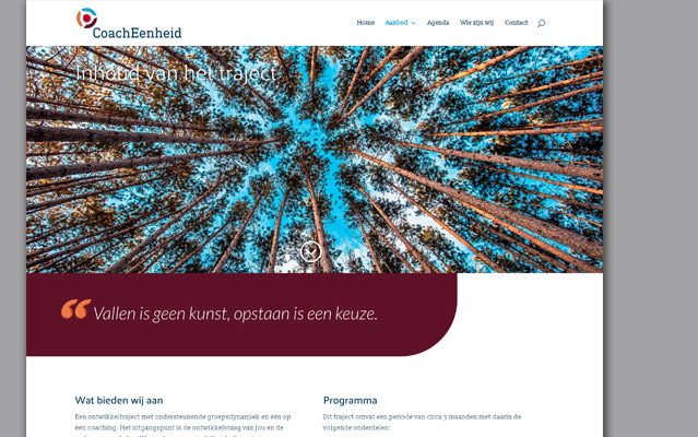CoachEenheid webpage