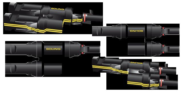 Solinq connectors 3D-illustraties