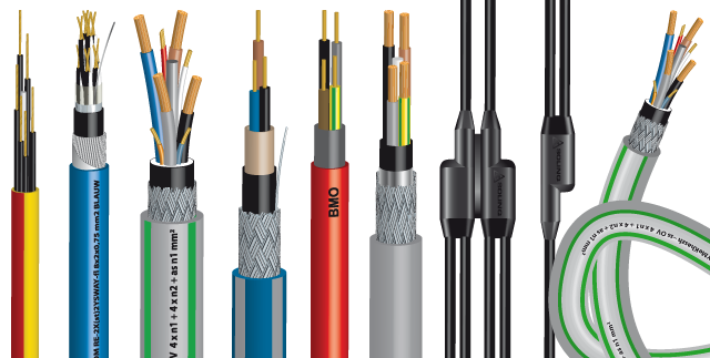 ELDRA kabels 3D-illustraties