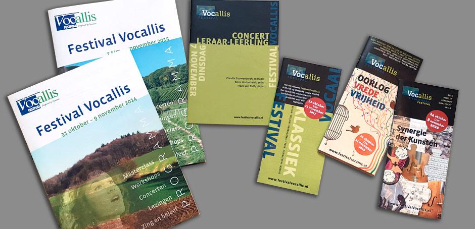 Internationaal Festival Vocallis huisstijl en uitingen