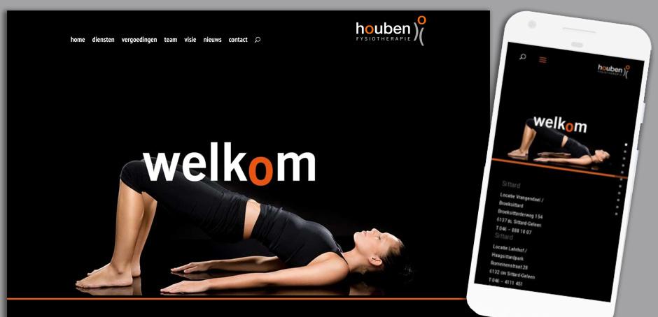 Houben Fysiotherapie website
