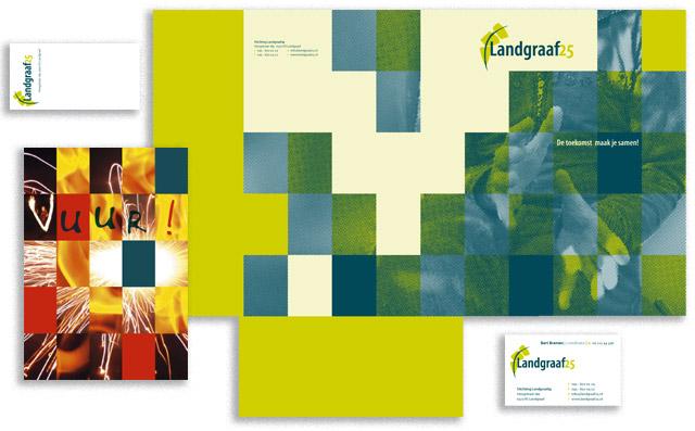 Landgraaf25 map, flyers, visitekaartje, etiket