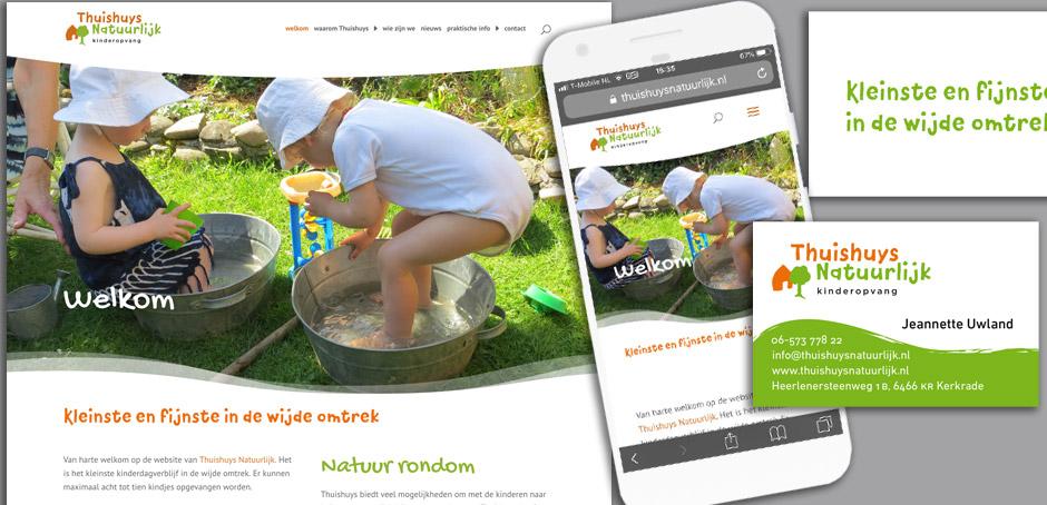 Thuishuys Natuurlijk logo en website