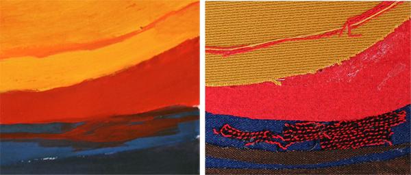 vergelijking vergrotingen kleur en textiel