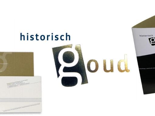 Historisch Goud logo, huisstijl, jaarverslagen