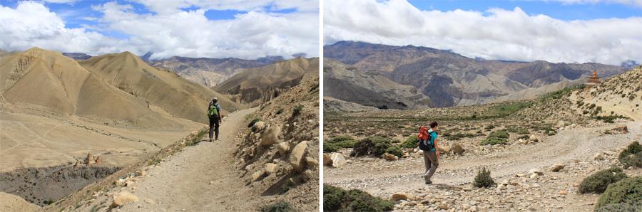 lopen door Upper Mustang